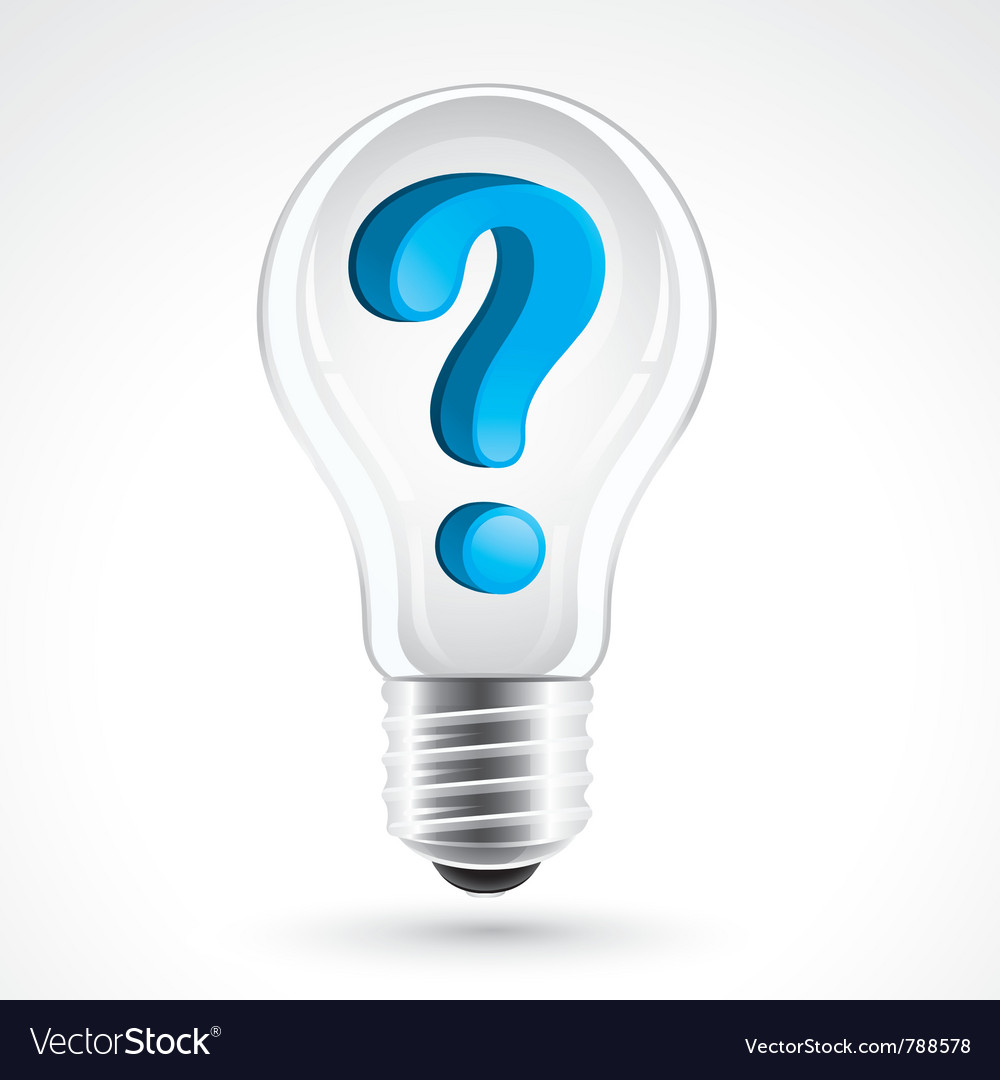 Light bulb with question mark vector | Price: 3 Credit (USD $3)