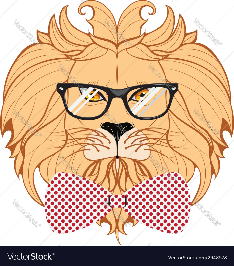 Lion hipster3 vector | Price: 1 Credit (USD $1)