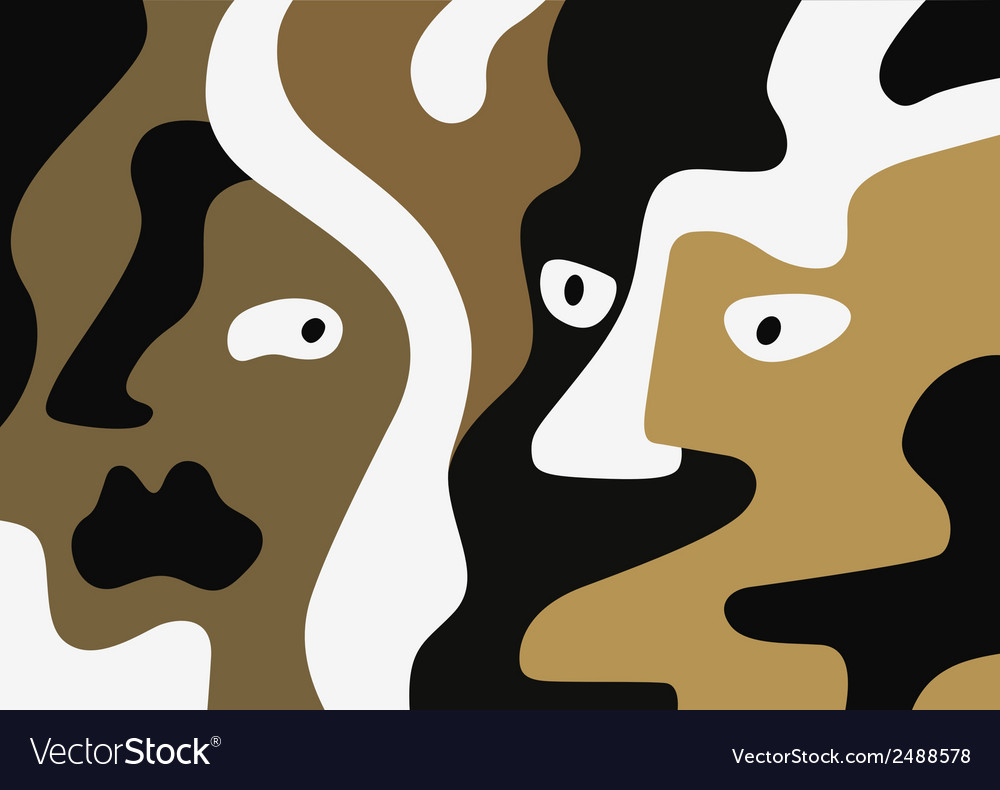 Man and woman faces vector | Price: 1 Credit (USD $1)