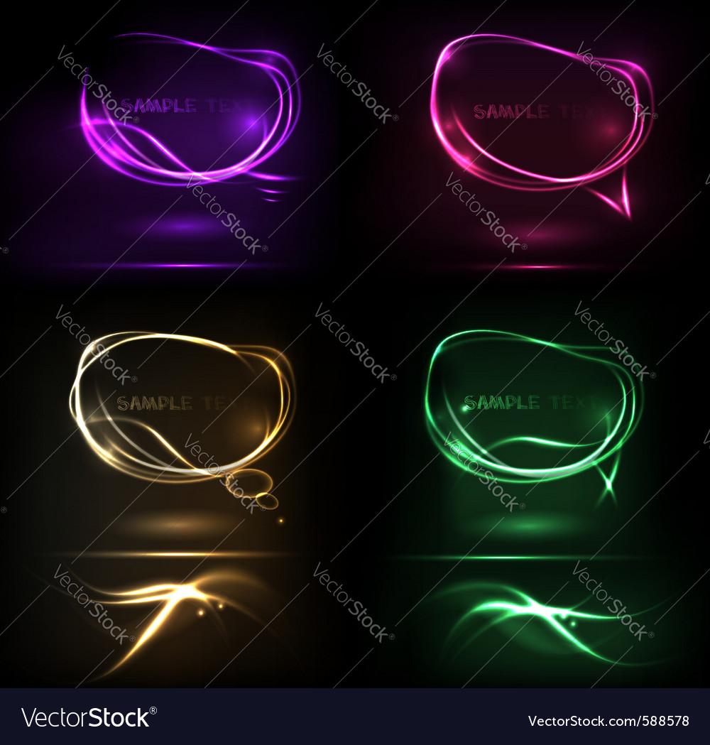 Neon speech bubble vector | Price: 1 Credit (USD $1)