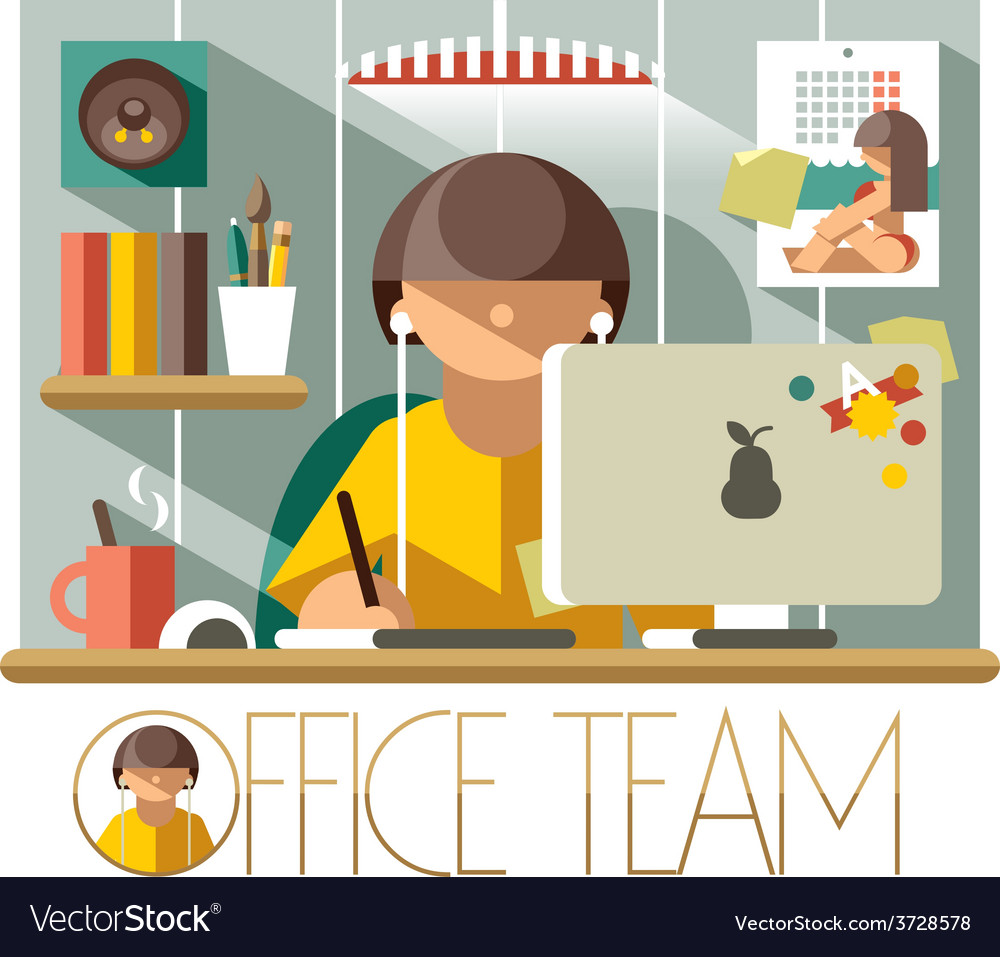 Office team designer vector | Price: 1 Credit (USD $1)