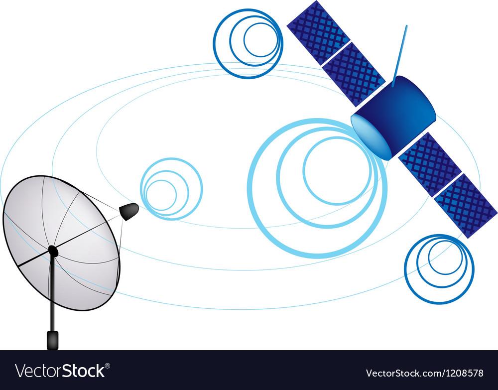 Satellite and satellite dish vector | Price: 1 Credit (USD $1)