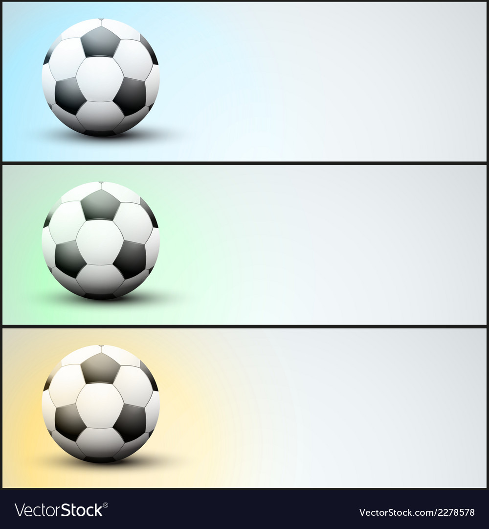 Set of light sports banner for a website to soccer vector | Price: 1 Credit (USD $1)