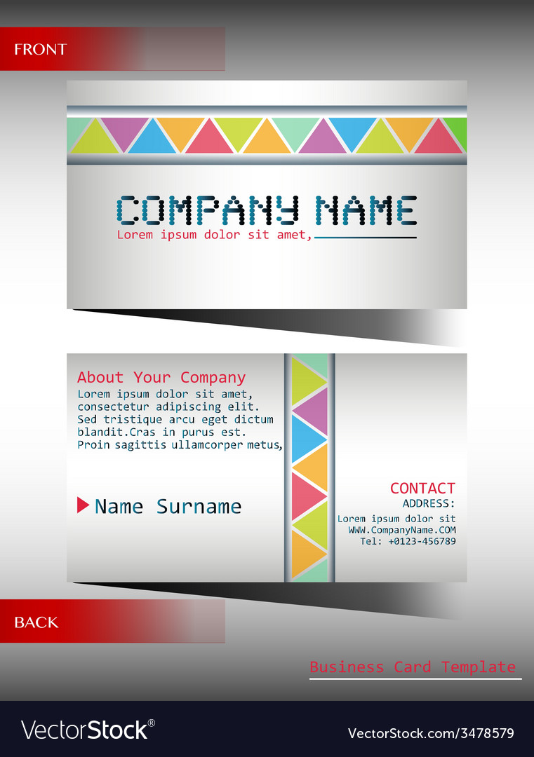 A multi-colored business card vector   Price: 1 Credit (USD $1)