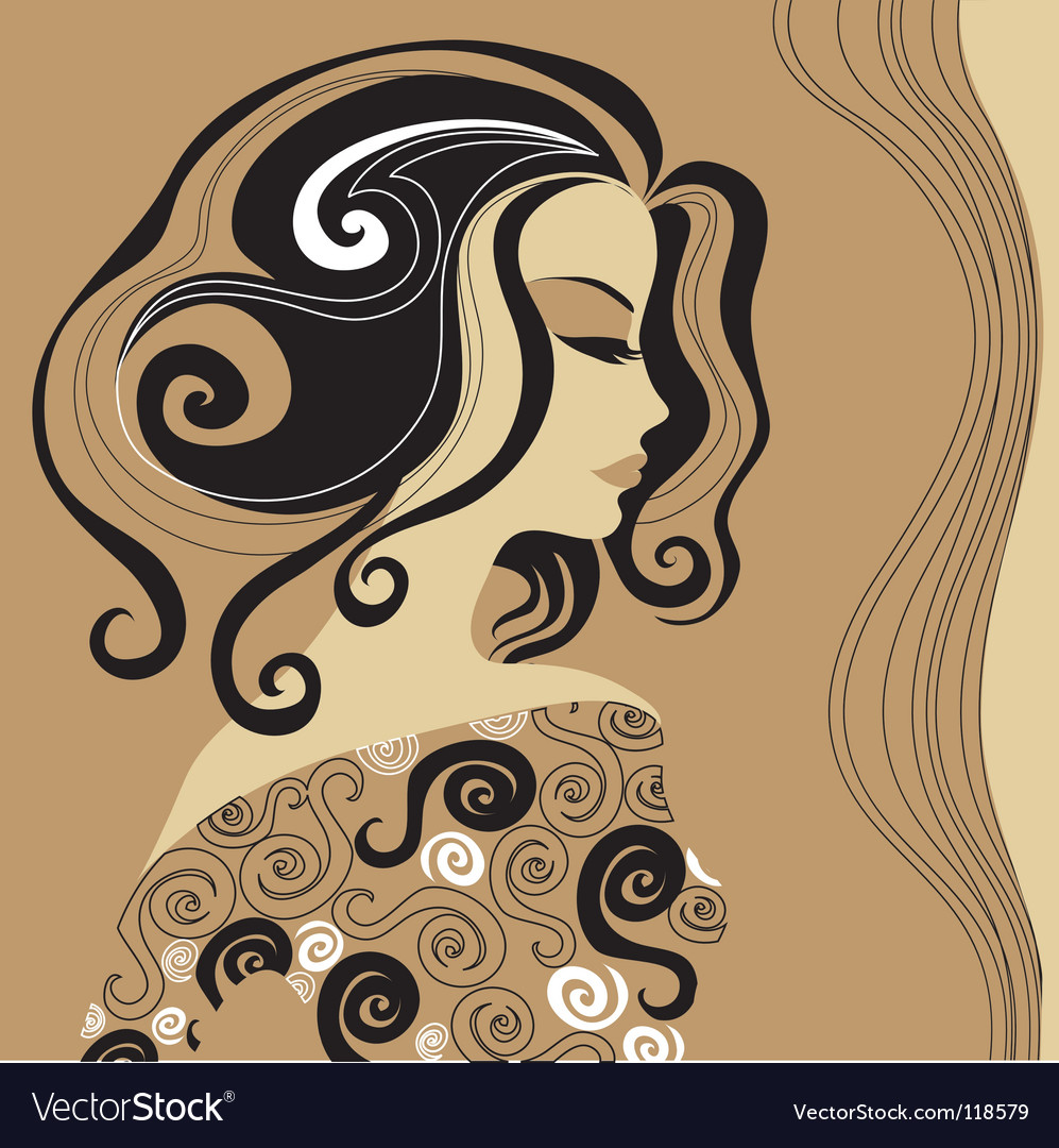 Artistic woman vector | Price: 1 Credit (USD $1)