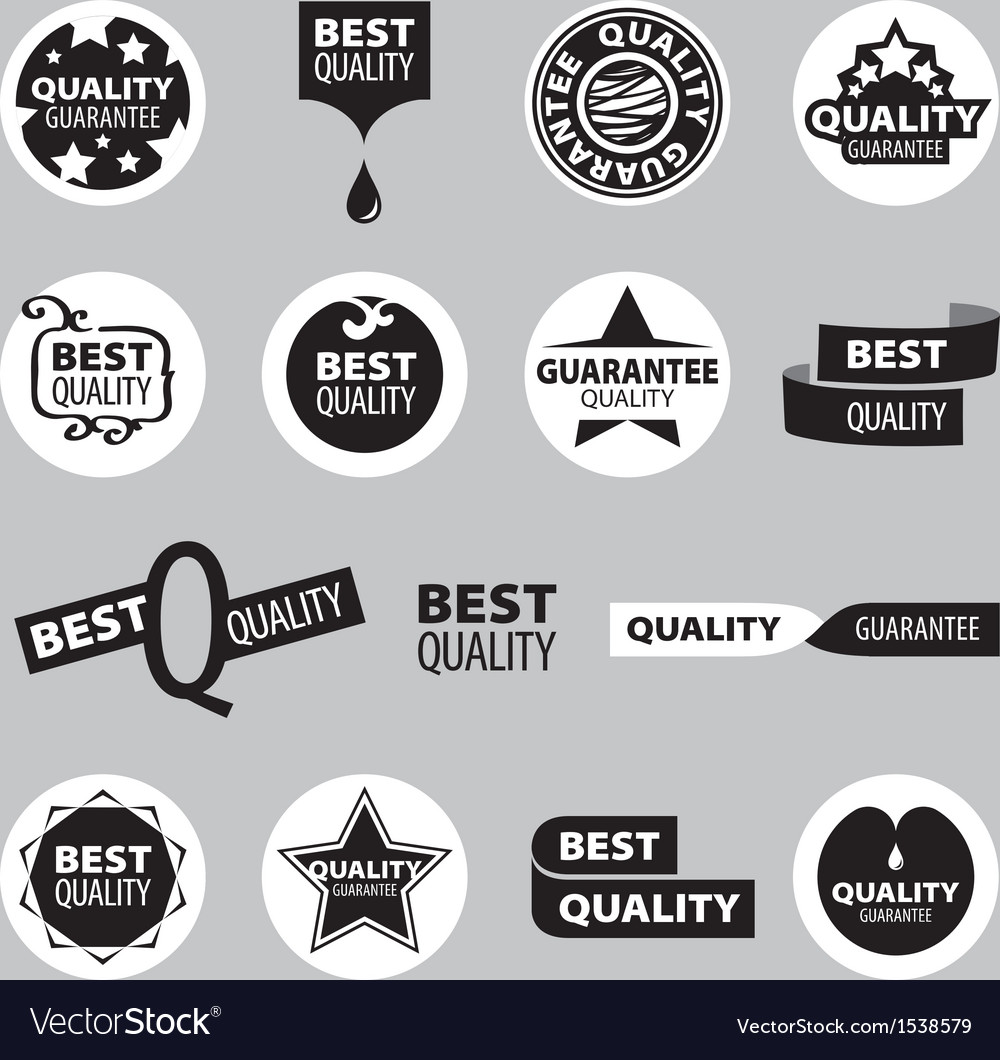 Collection of icons of quality assurance vector | Price: 1 Credit (USD $1)