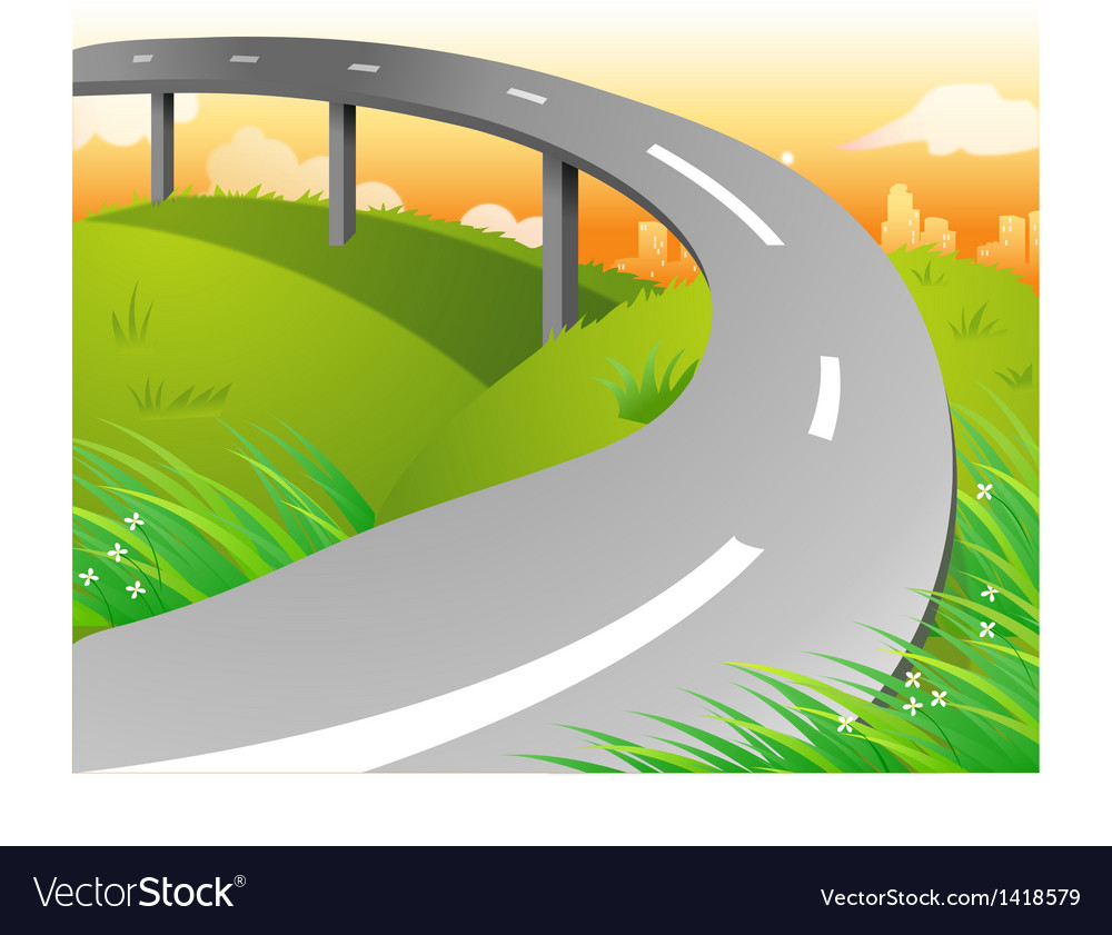 Country highway vector | Price: 1 Credit (USD $1)