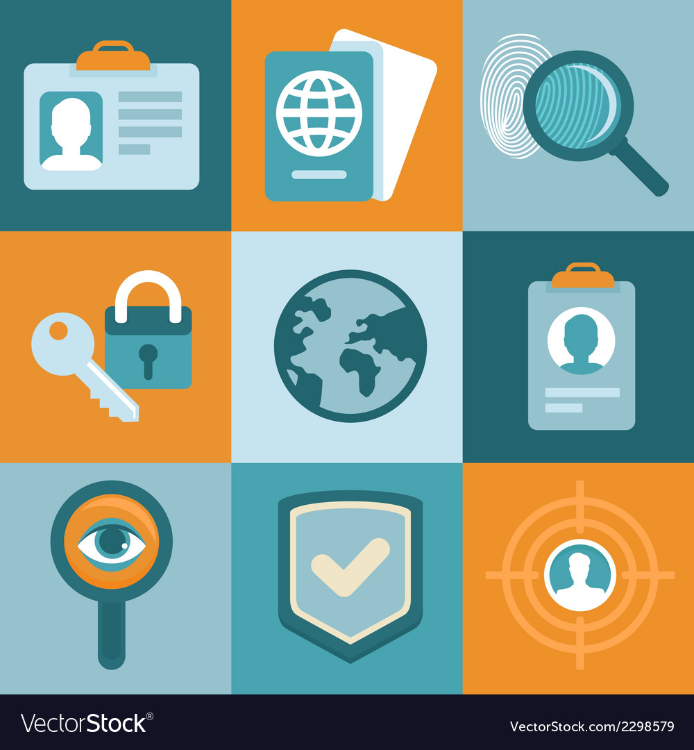 Identification concepts in flat style vector | Price: 1 Credit (USD $1)