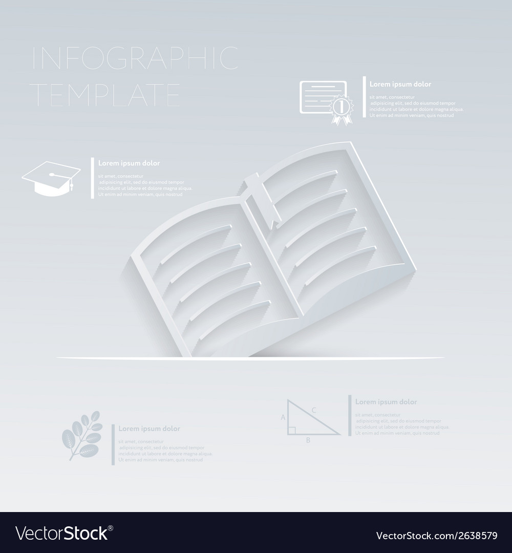 Open book template graphic or website layo vector | Price: 1 Credit (USD $1)