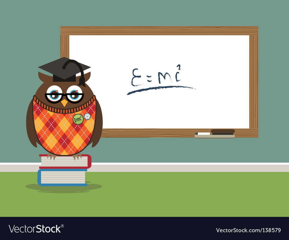 Professor owl vector | Price: 1 Credit (USD $1)