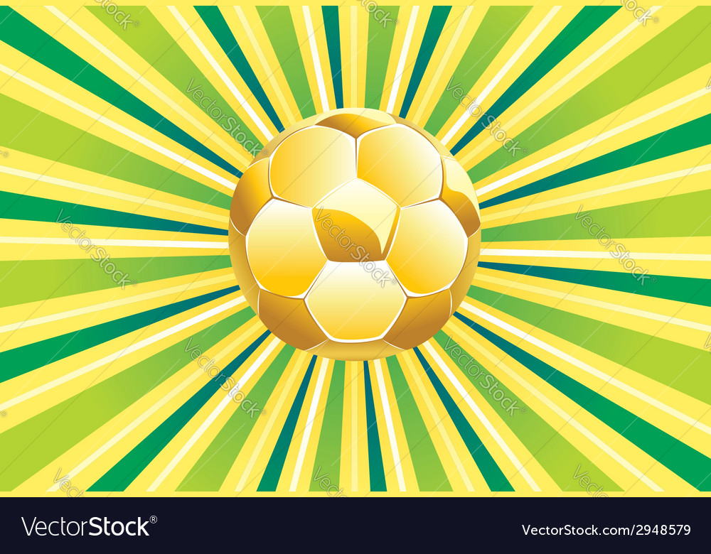 Soccer ball on green background2 vector | Price: 1 Credit (USD $1)