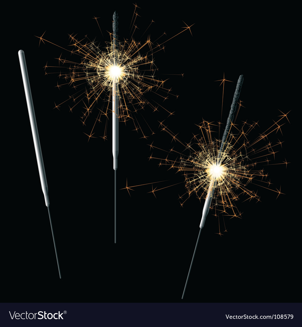 Sparkler vector | Price: 1 Credit (USD $1)