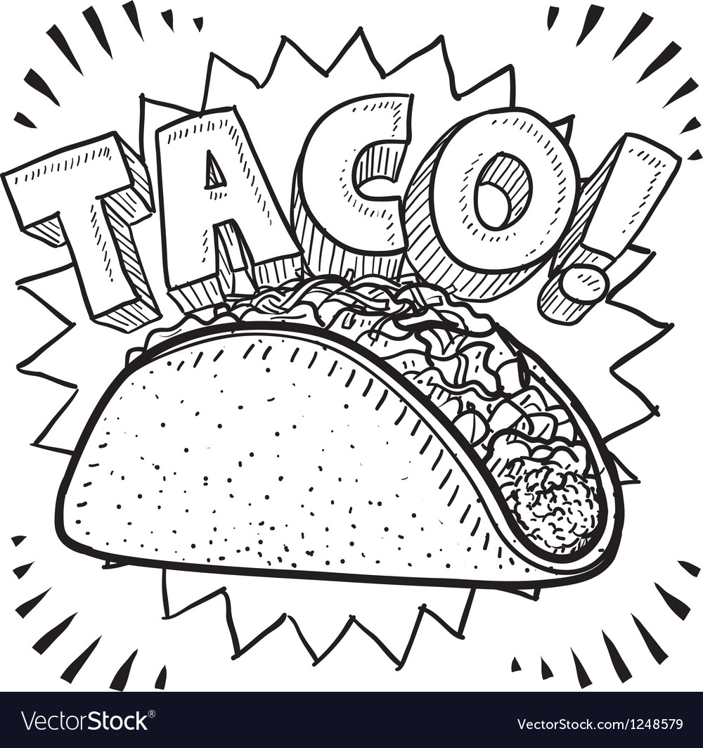 Taco vector | Price: 1 Credit (USD $1)