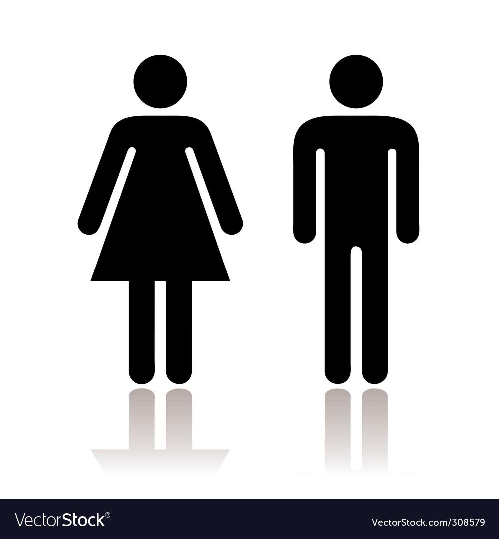 Toilet symbols vector | Price: 1 Credit (USD $1)