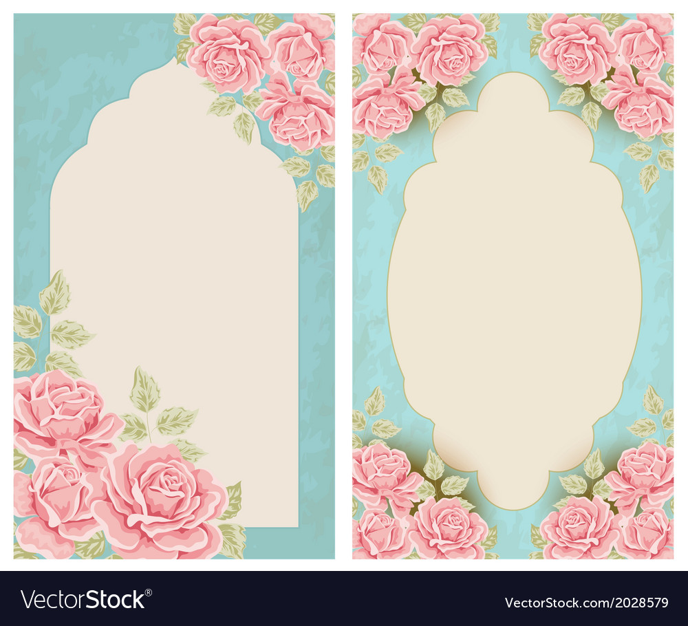 Vintage labels with flowers vector | Price: 1 Credit (USD $1)