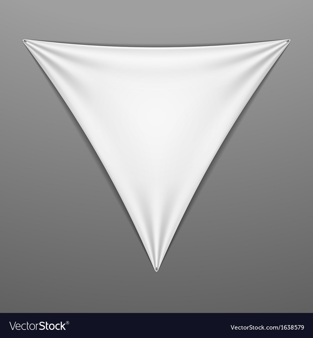 White stretched triangular shape with folds vector | Price: 1 Credit (USD $1)