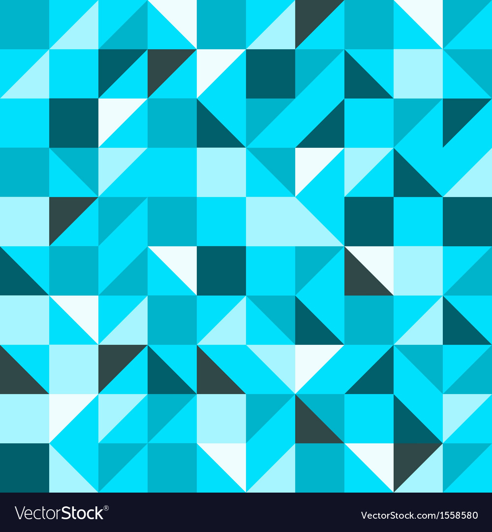 Blue seamless triangle pattern vector | Price: 1 Credit (USD $1)