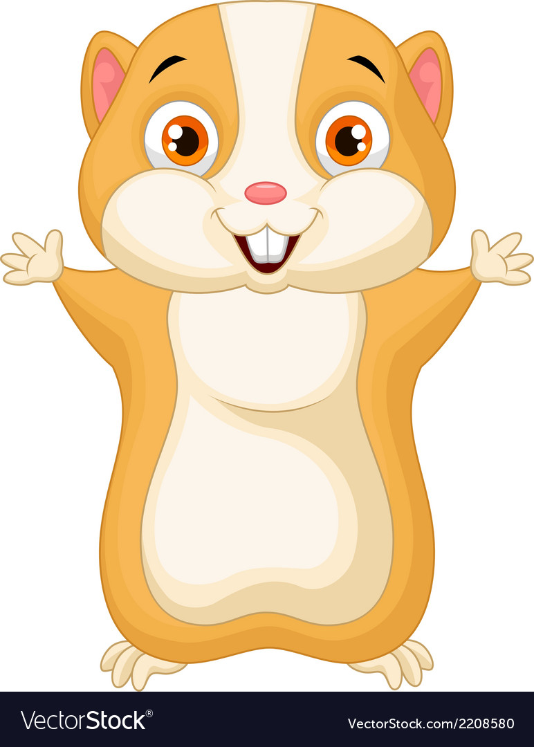 Cute hamster cartoon vector | Price: 1 Credit (USD $1)