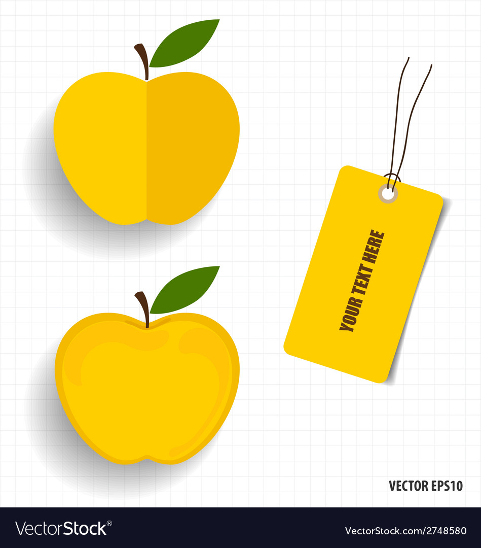 Cute note papers and apple welcome back to school vector   Price: 1 Credit (USD $1)