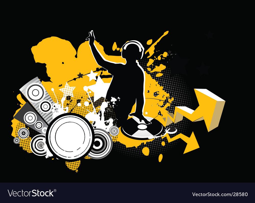 Dj music concept vector | Price: 1 Credit (USD $1)