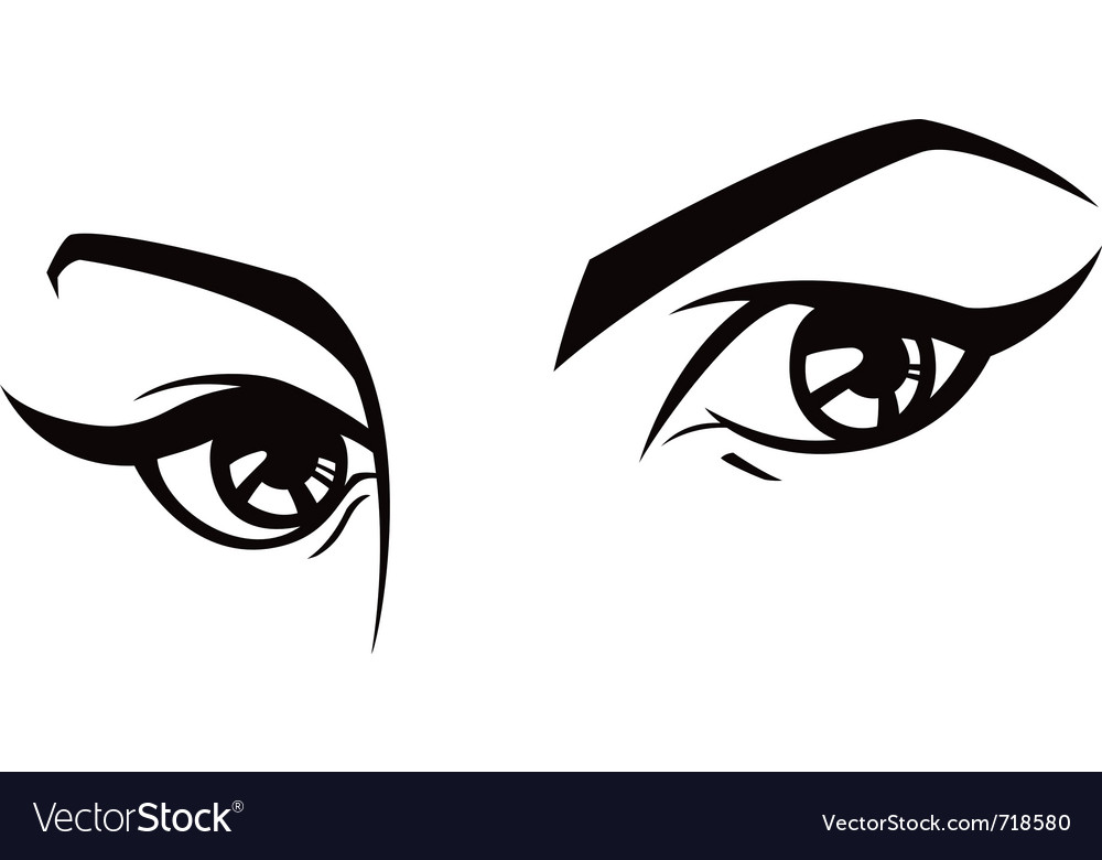Female eyes set three vector | Price: 1 Credit (USD $1)