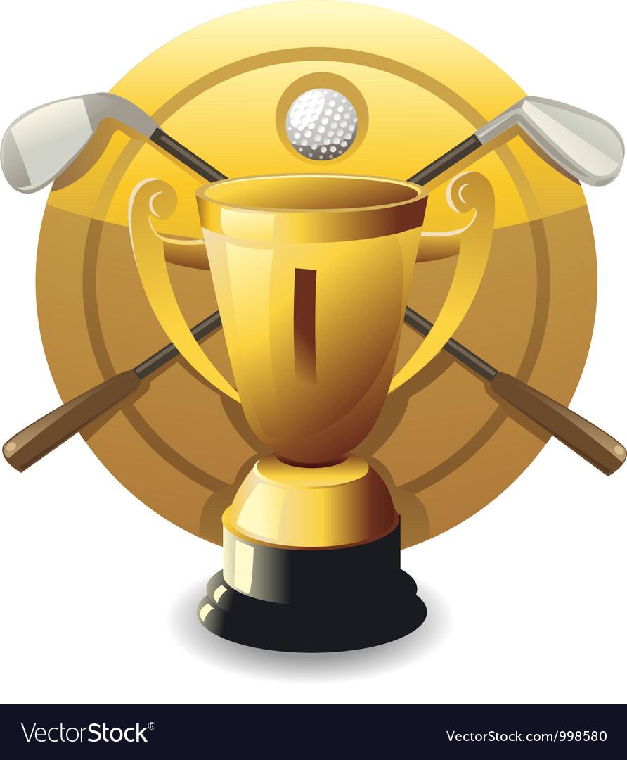 Golf award vector | Price: 1 Credit (USD $1)