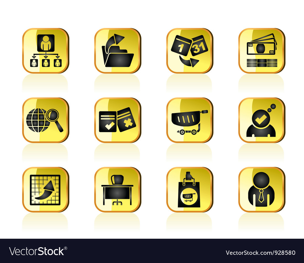 Management and office icons vector | Price: 1 Credit (USD $1)