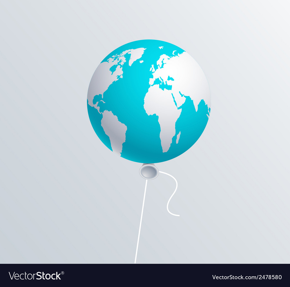 Modern earth ballon vector | Price: 1 Credit (USD $1)