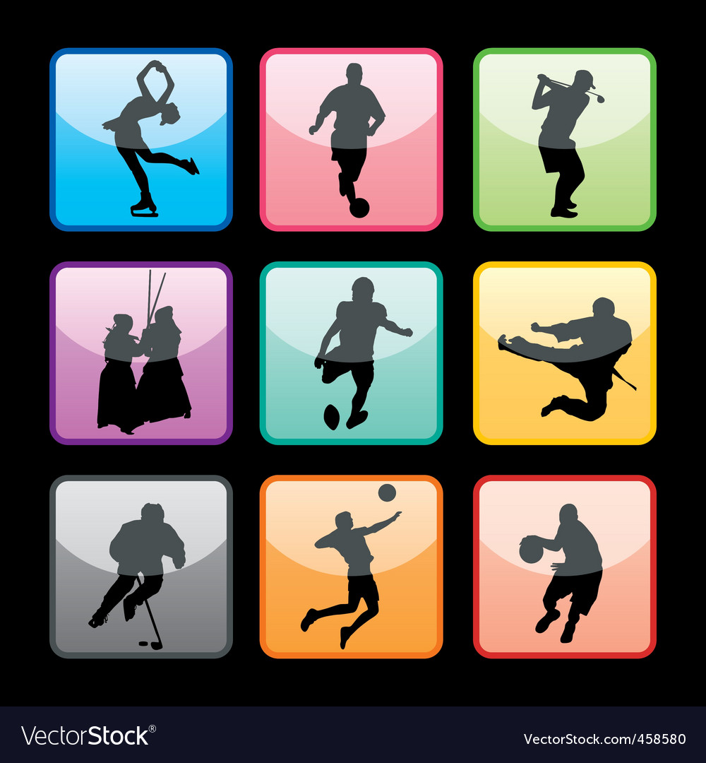 Sports buttons set02 vector | Price: 1 Credit (USD $1)