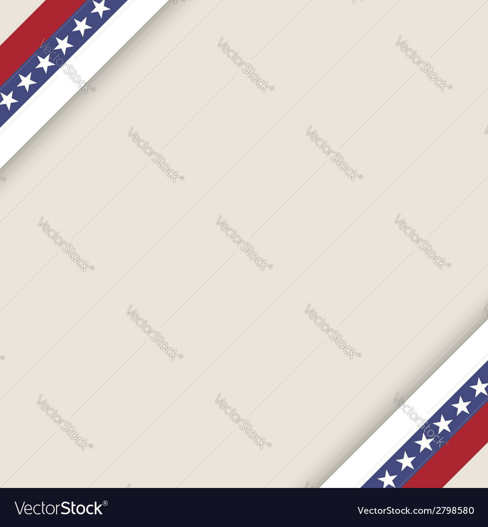 Stars and stripes ribbons background vector | Price: 1 Credit (USD $1)
