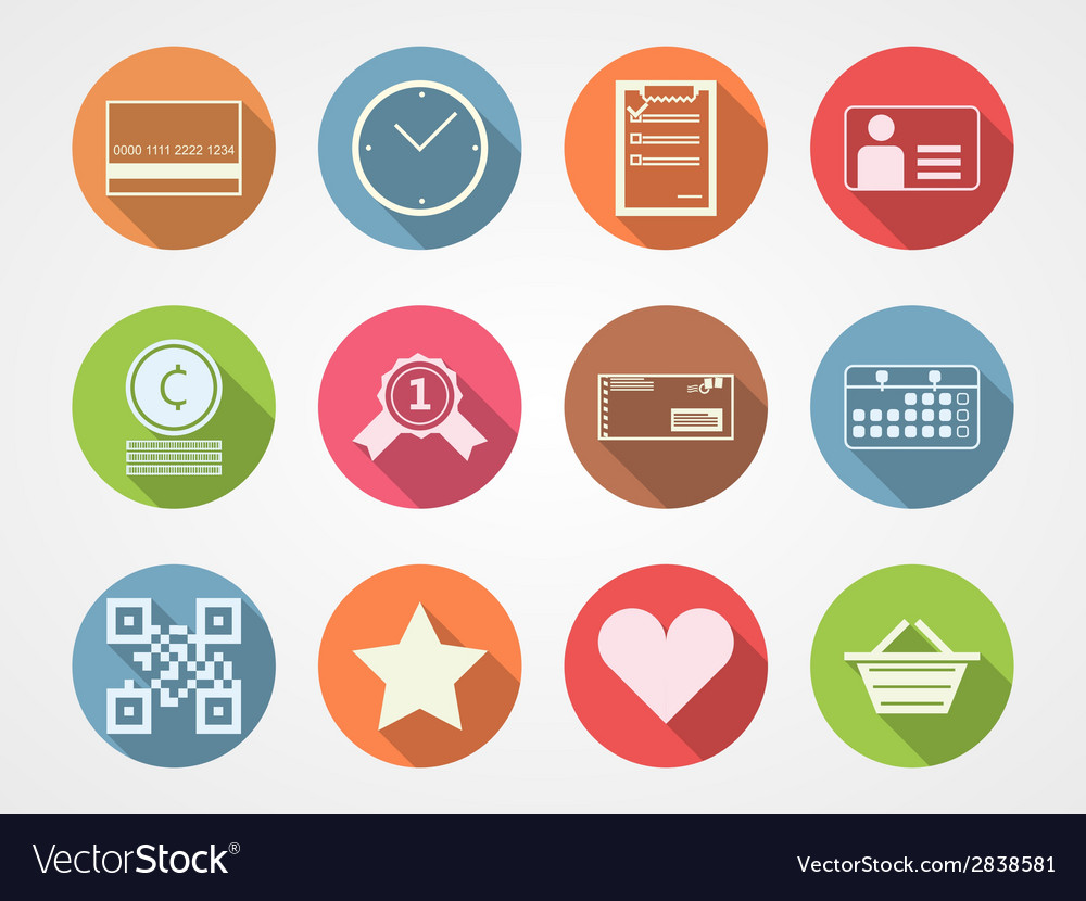 Flat icons for internet commerce vector | Price: 1 Credit (USD $1)