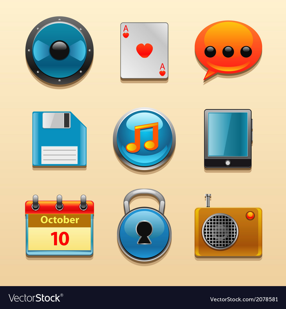 Icons for web and mobile applications set vector | Price: 1 Credit (USD $1)