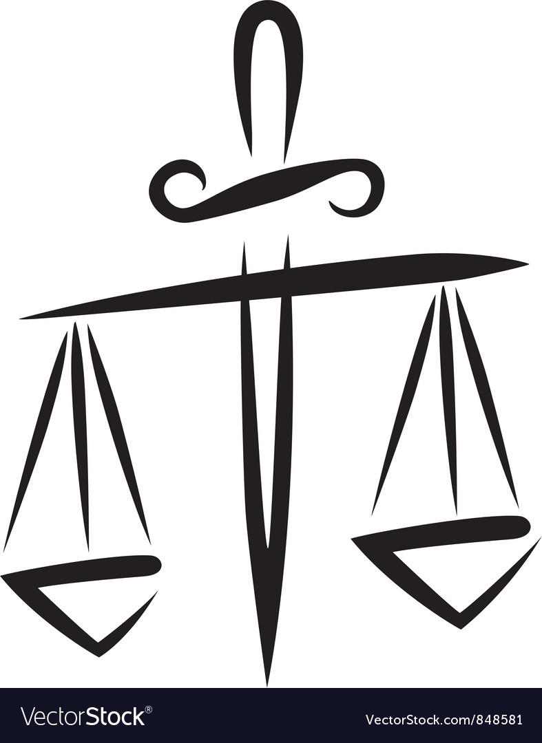Libra of justice vector | Price: 1 Credit (USD $1)