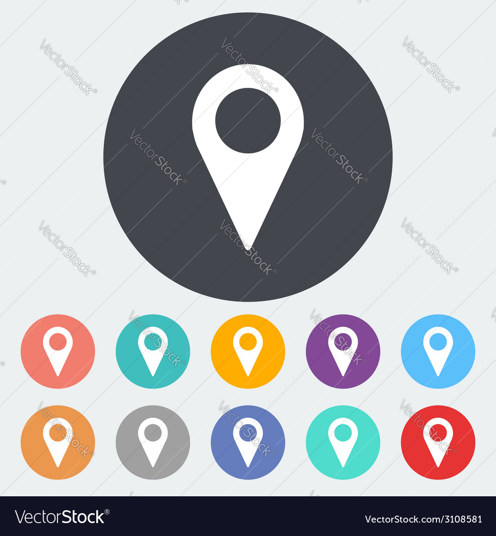 Map pointer single icon vector | Price: 1 Credit (USD $1)