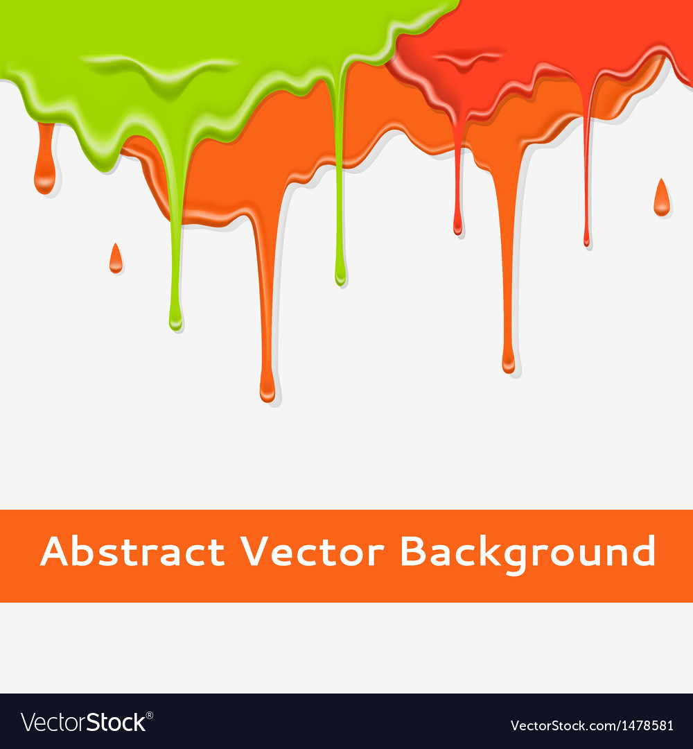 Paint colorful dripping background in three color vector | Price: 1 Credit (USD $1)