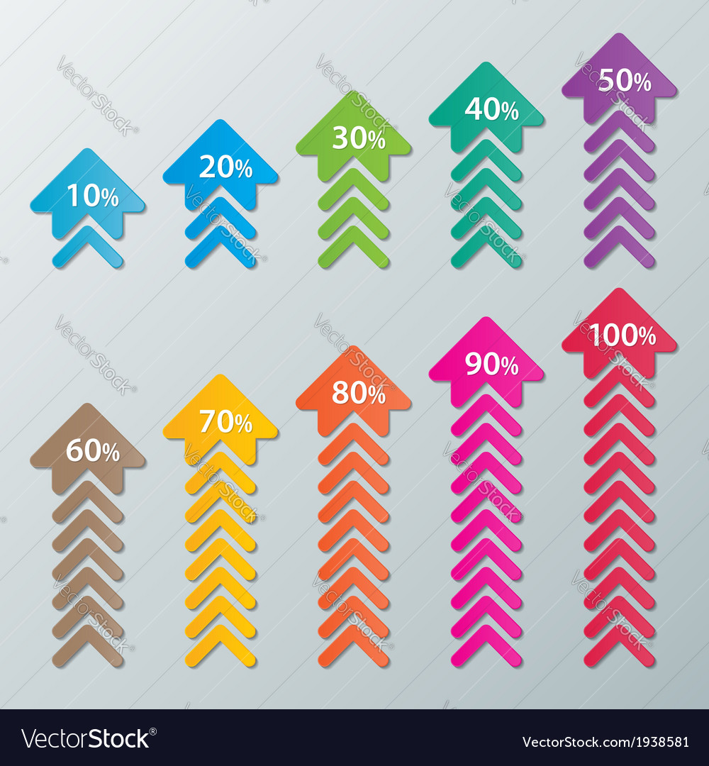 Paper infographic chart vector | Price: 1 Credit (USD $1)