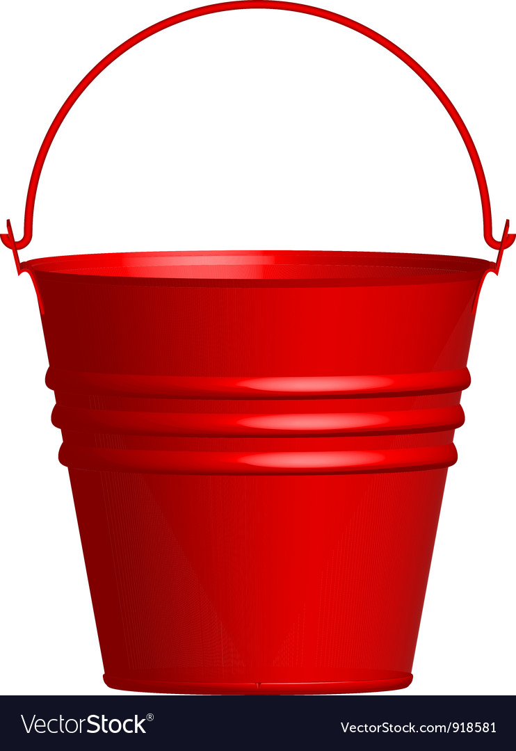 Red bucket vector | Price: 1 Credit (USD $1)