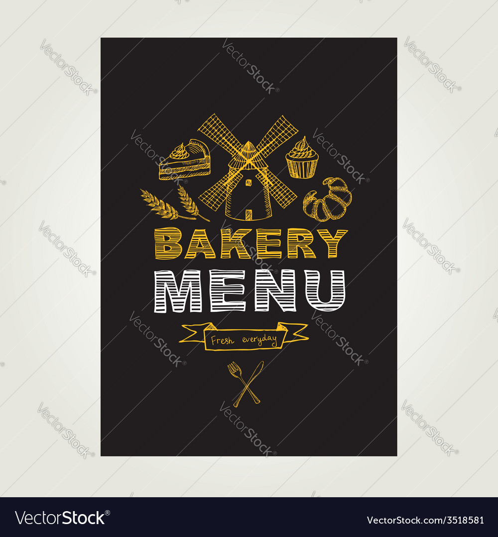 Restaurant menu bakery and cafe template design vector | Price: 1 Credit (USD $1)
