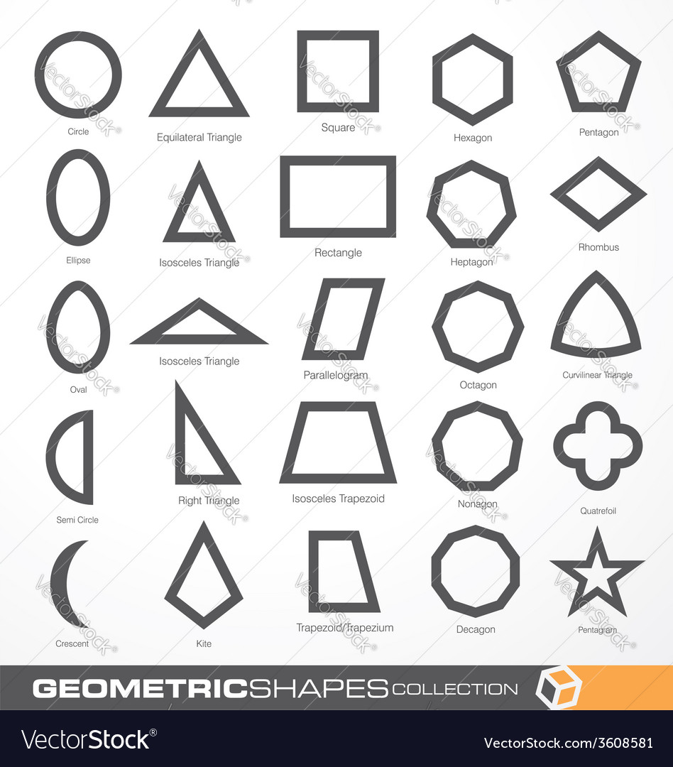 Set of geometric shapes vector | Price: 1 Credit (USD $1)