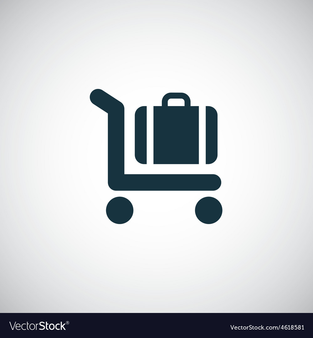 Trolley luggage icon vector | Price: 1 Credit (USD $1)