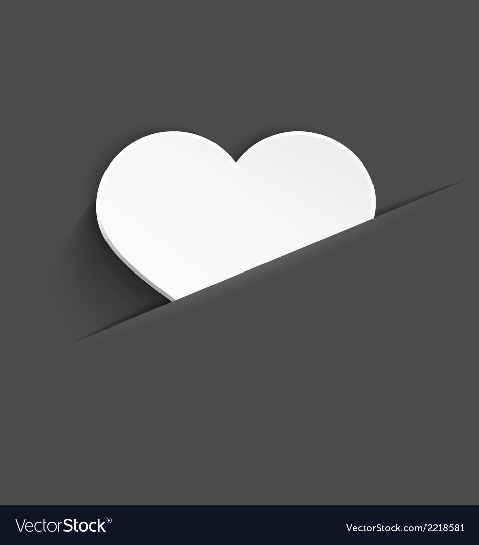 White heart in pocket vector | Price: 1 Credit (USD $1)