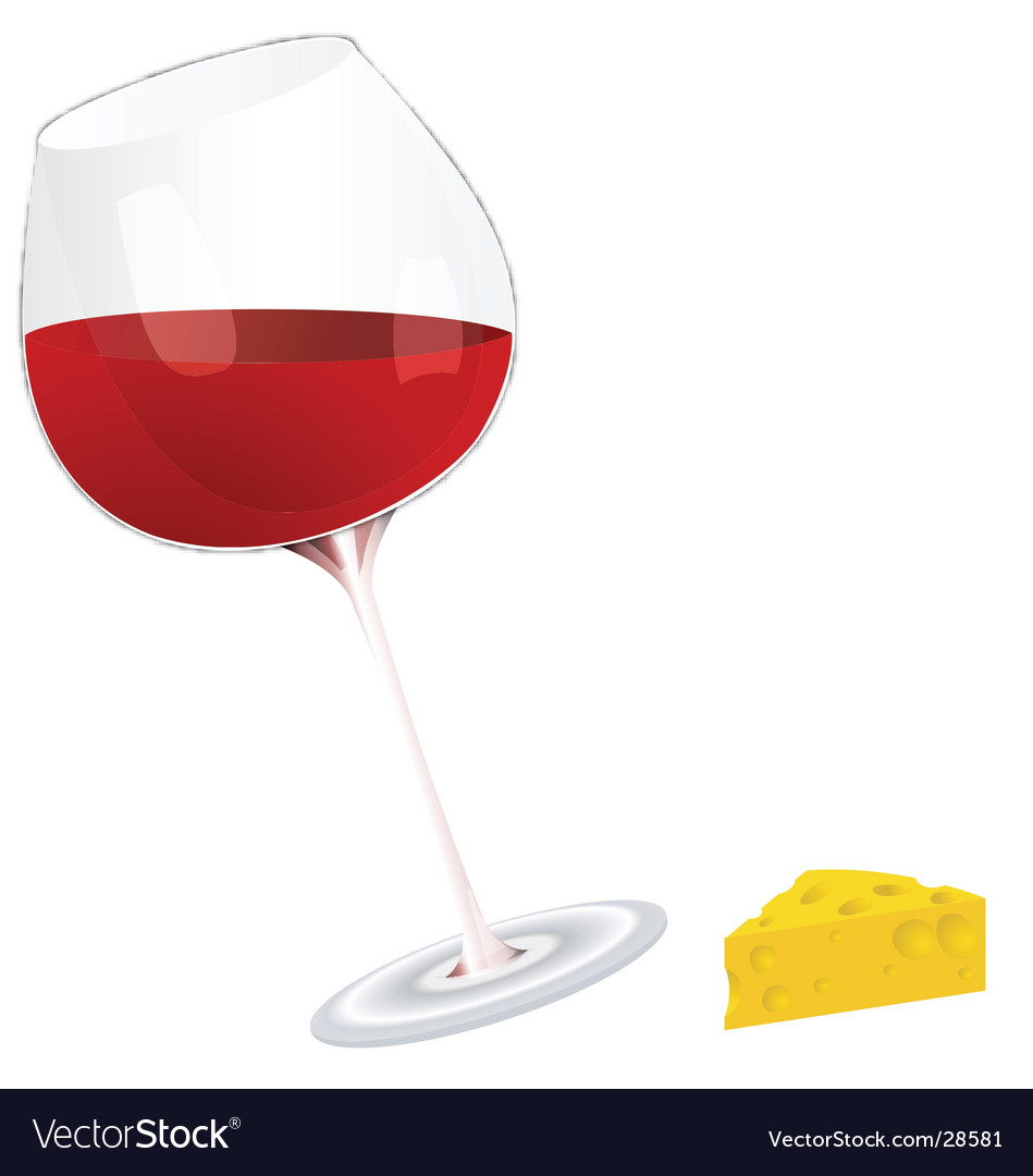 Wine and cheese vector | Price: 1 Credit (USD $1)