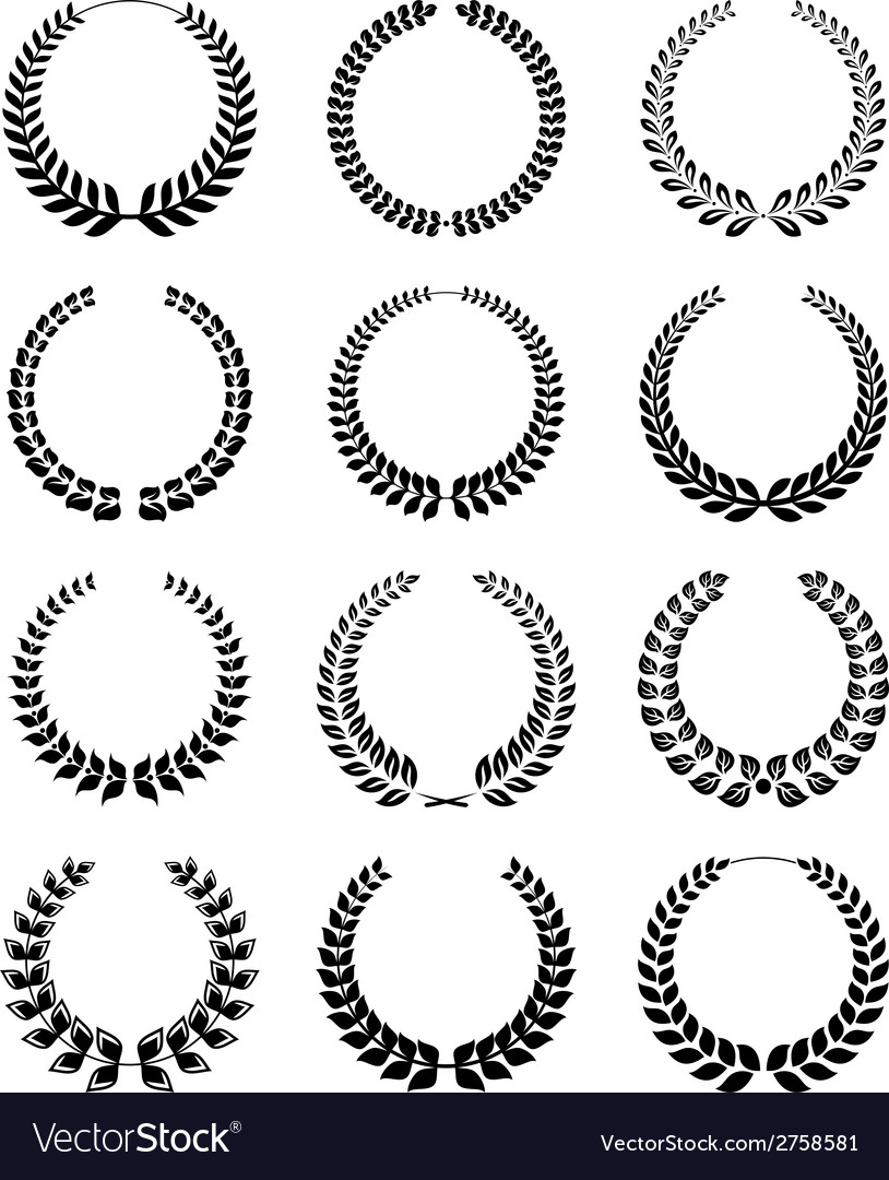 Wreath set vector | Price: 1 Credit (USD $1)