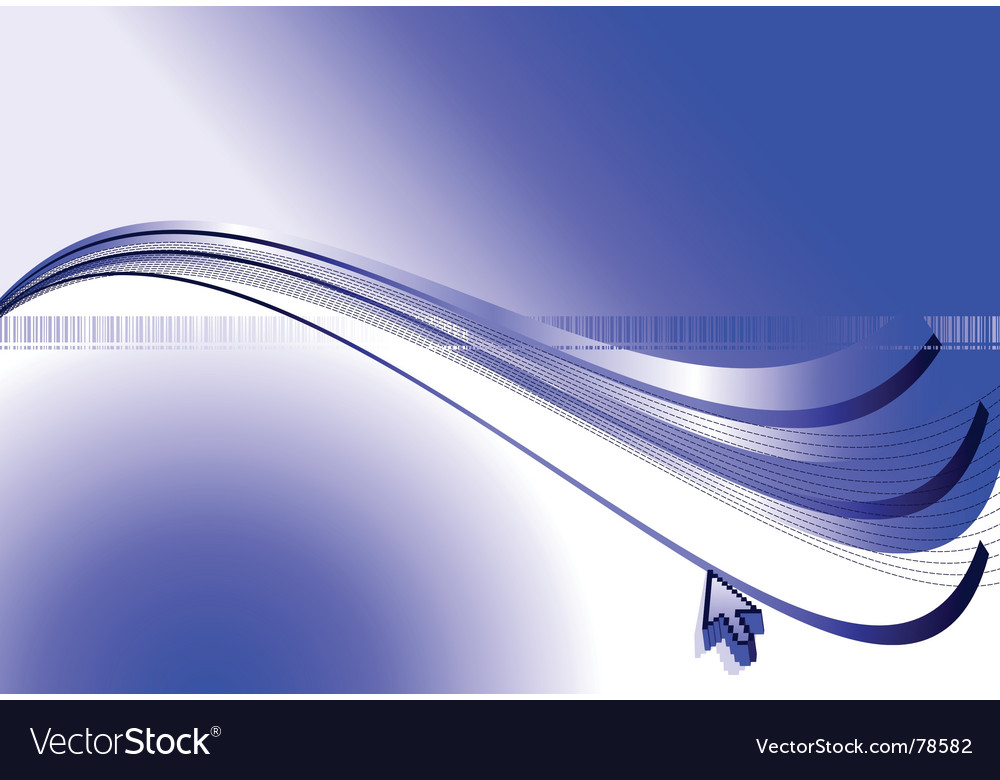 Arrow and blue abstract background vector | Price: 1 Credit (USD $1)