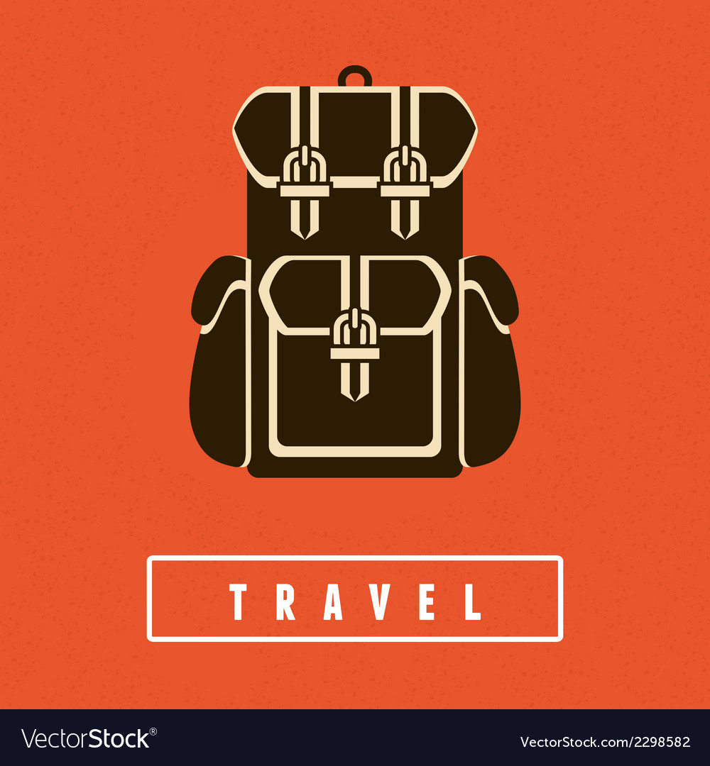 Backpack icon in flat style vector | Price: 1 Credit (USD $1)