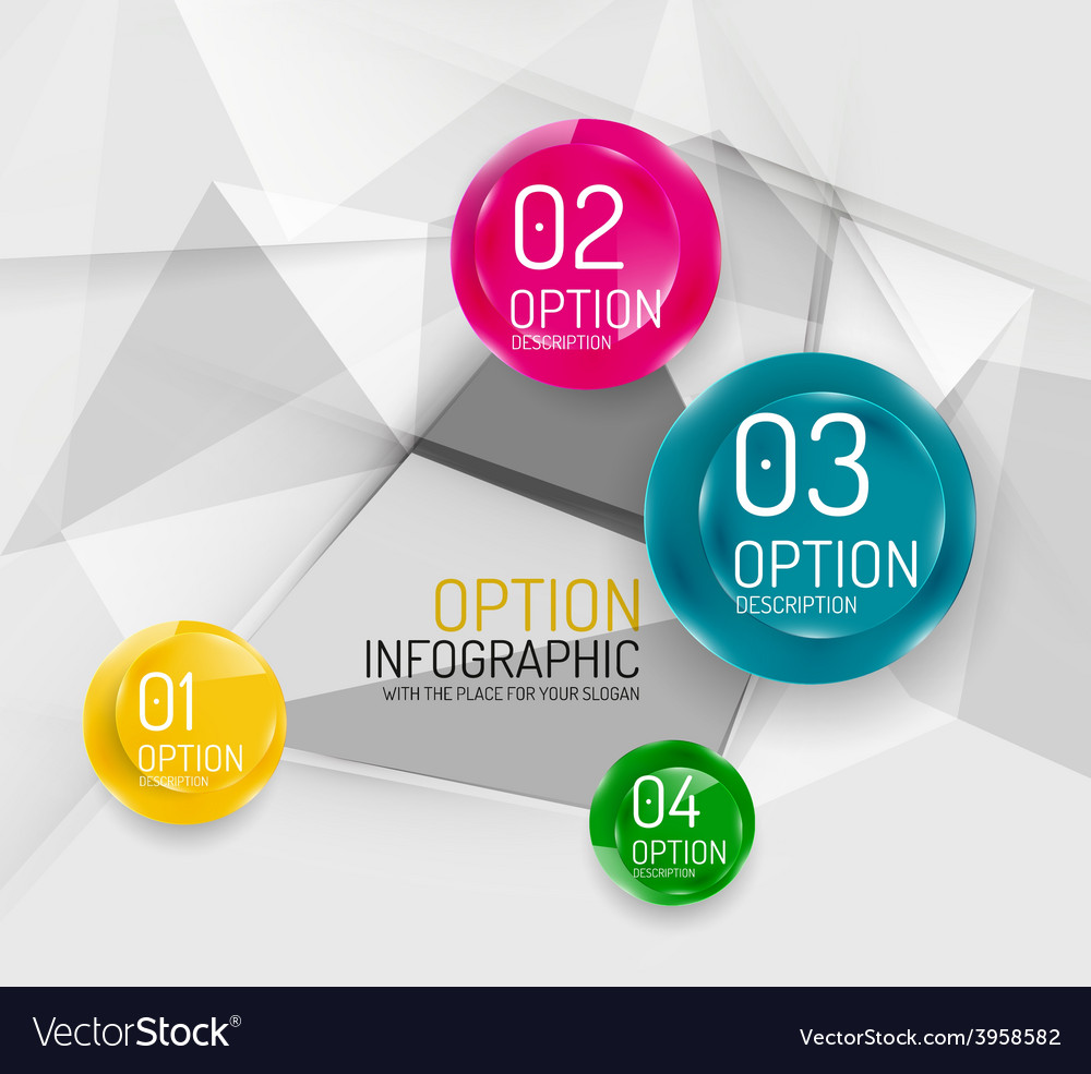 Business geometric option steps infographics vector   Price: 1 Credit (USD $1)