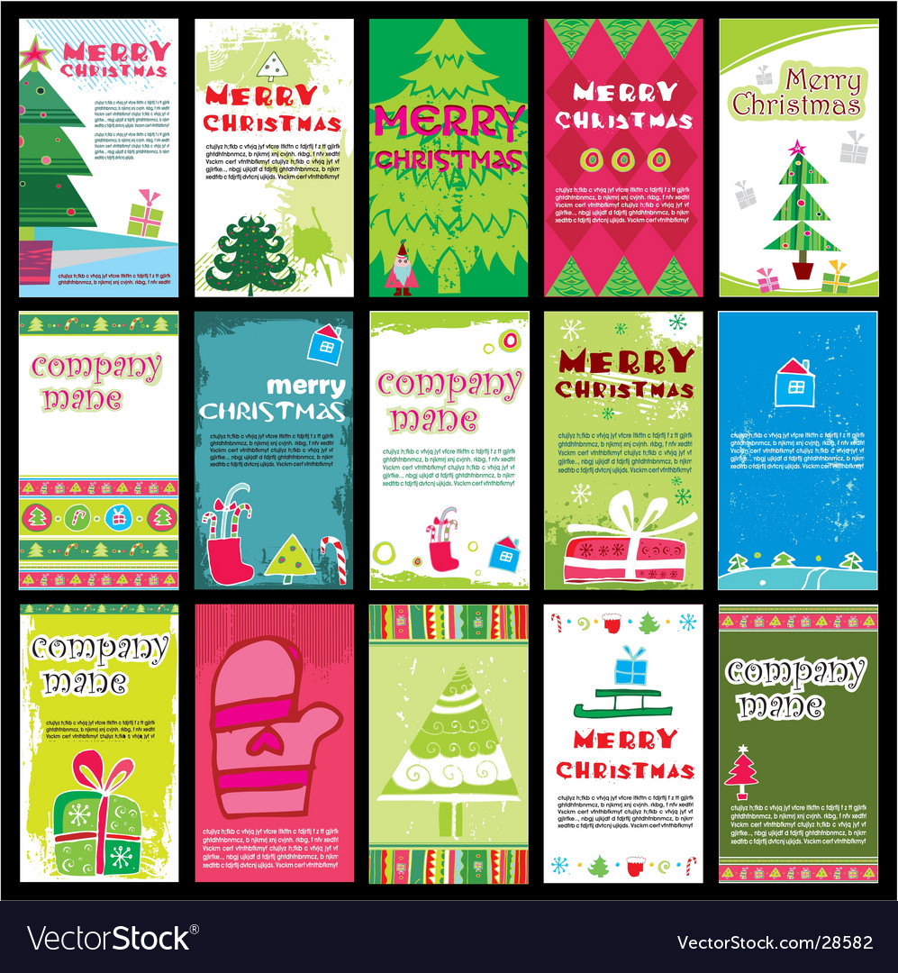 Christmas cards vector | Price: 3 Credit (USD $3)