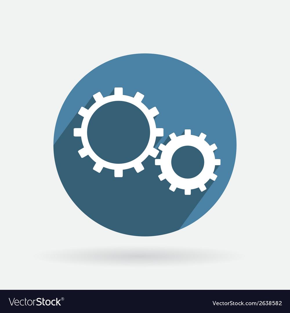 Circle blue icon symbol settings cogwheel vector | Price: 1 Credit (USD $1)