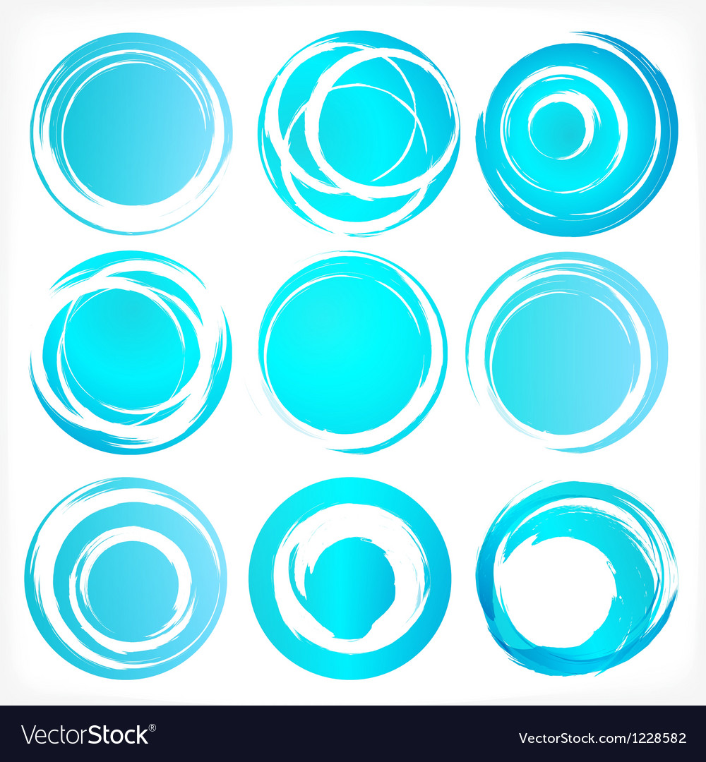 Design elements in blue colors icons set 3 vector | Price: 1 Credit (USD $1)