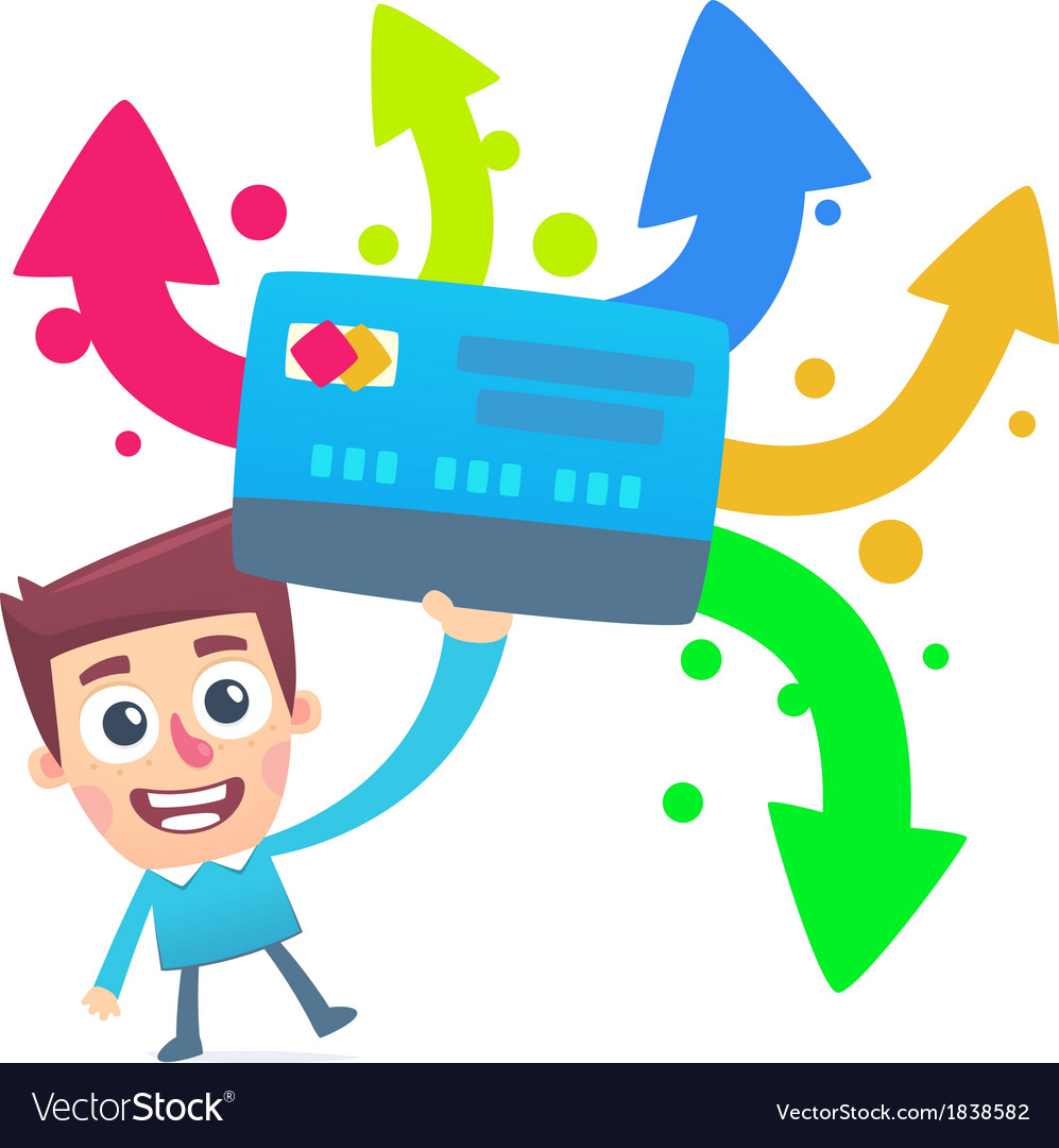 Different ways to use a plastic card vector   Price: 1 Credit (USD $1)